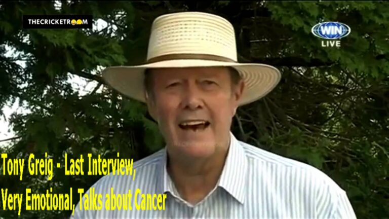 Last Interview: Tony Greig (Lung Cancer)